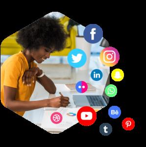 post across social media
